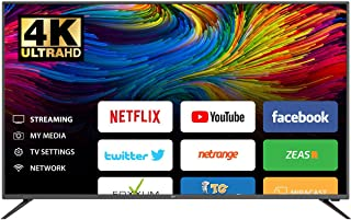 Impex GLORIA 55 Inch UHD 4K Smart LED TV - (SMART, WIFI, USB, HDMI, RJ 46, HOTSPOT, E SHARE, CHROME CAST), black