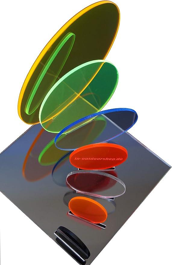 400mm x 500mm x 3mm, blau fluoreszierend in-outdoorshop Plexiglas/® Zuschnitt Acrylglas Platte in unterschiedlichen Farben