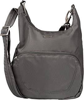 Travelon Anti-Theft Classic Essential Messenger Bag (One Size, Pewter)