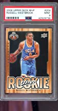 2008-09 Upper Deck MVP #204 Russell Westbrook ROOKIE RC MINT PSA 9 Graded NBA Basketball Card