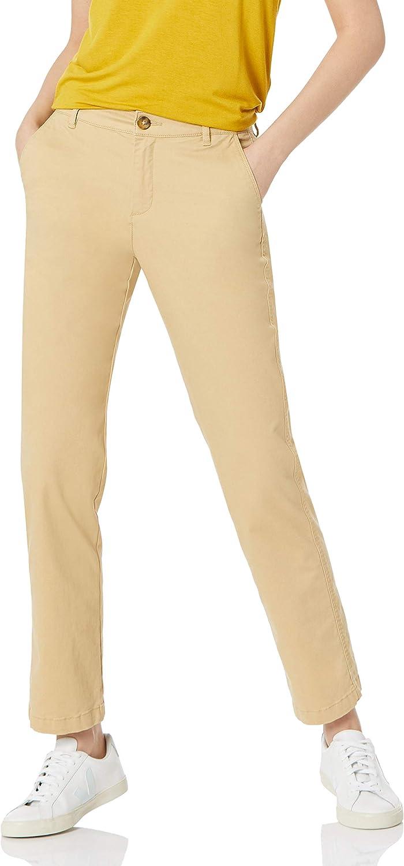 Amazon Essentials Women's Curvy Fit Full Length Straight Leg Chino Pant