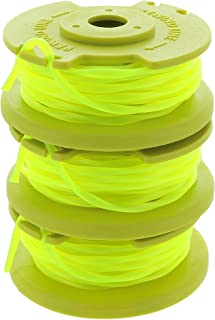 Ryobi One PLUS+ AC80RL3 OEM .080 Inch Twisted Line and Spool Replacement for Ryobi 18v, 24v, and 40v Cordless Trimmers (3 Pack)