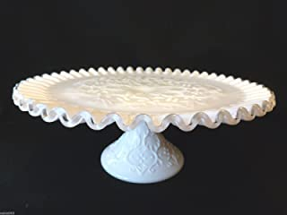 spanish lace milk glass