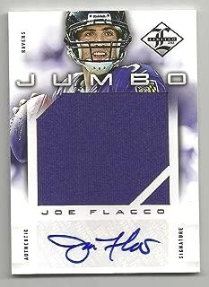 2012 Panini Limited Football Joe Flacco Jumbo Jersey Autograph Card # 8/10