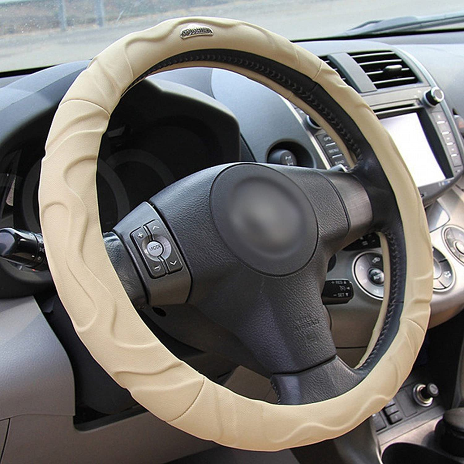 DEED Car Steering Wheel Cover 15 Inch No Smell Comfort Durability Safety Absorb Sweat Dewet