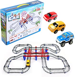 Battery Operated Adventurous Car and Track Assembly Playset, Great for Kids