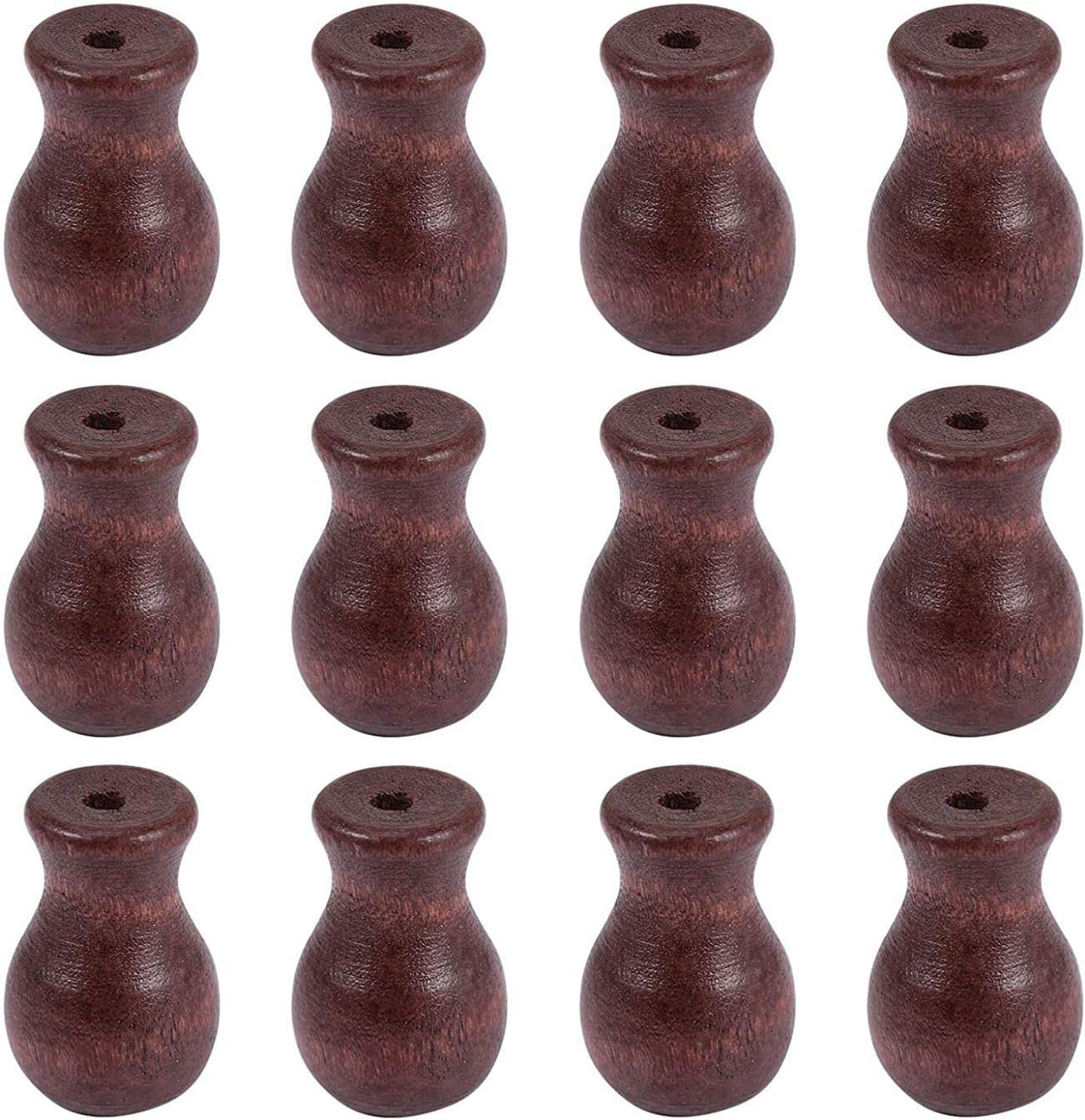 Exanko 12 Pack Window Large special price !! Blind Wood Hanging Knobs Wooden Cord Seasonal Wrap Introduction Ball
