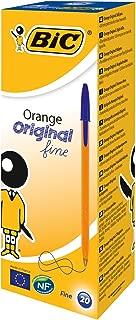 BIC Orange Original Fine Ballpoint Pens Fine Point (0.8 mm) - Blue, Box of 20