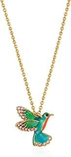 Hummingbird Mini Pendant Necklace, 17