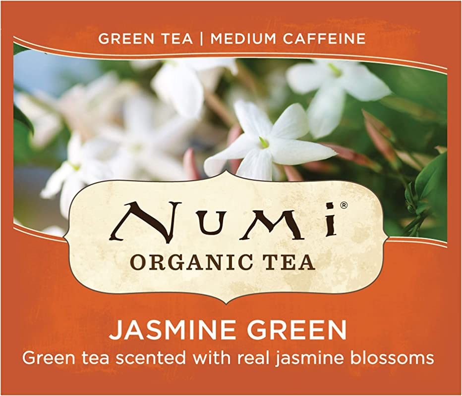 Numi Organic Tea Jasmine Green 100 Count Box Of Tea Bags Packaging May Vary