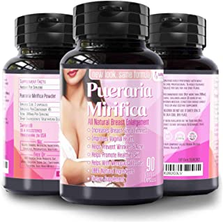 Natural Pueraria Mirifica Daily 2000mg Capsules - Breast Enhancement Pills for Women - Breast Enlarger, Vaginal Health, Me...