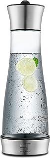 SILBERTHAL Jarra Agua Cristal con Tapa | Jarra Agua con Tapa de Acero Inoxidable para Nevera 1 litro | Tetera para té y café | Cold Brew Coffee Maker