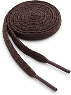 Cotton Flat Dress Thin Shoelaces - 100 Percent Cotton Dress Shoe Laces 2 Pair Pack - Made in the USA