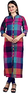 Chandrakala Women's Cotton Indian Ethnic Kurtas Casual Tunic Top Kurti Long Dress(K103)
