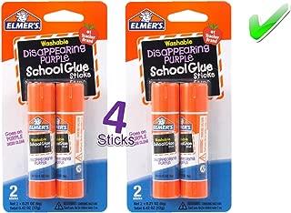 Elmer's Bundle 2 pk of 6 Gram Disappearing Purple Elmer's School Glue Stick, Total of 4 Sticks