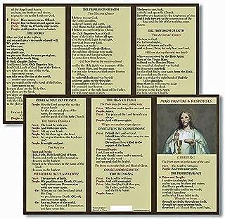 Catholic Mass Prayer and Responses Pocket Card