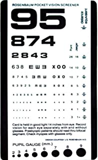 Pocket Size Plastic Eye Chart, 6 3/8