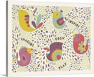 GREATBIGCANVAS Gallery-Wrapped Canvas Birdie Num Nums V Inspiration by Lamai McCartan 30