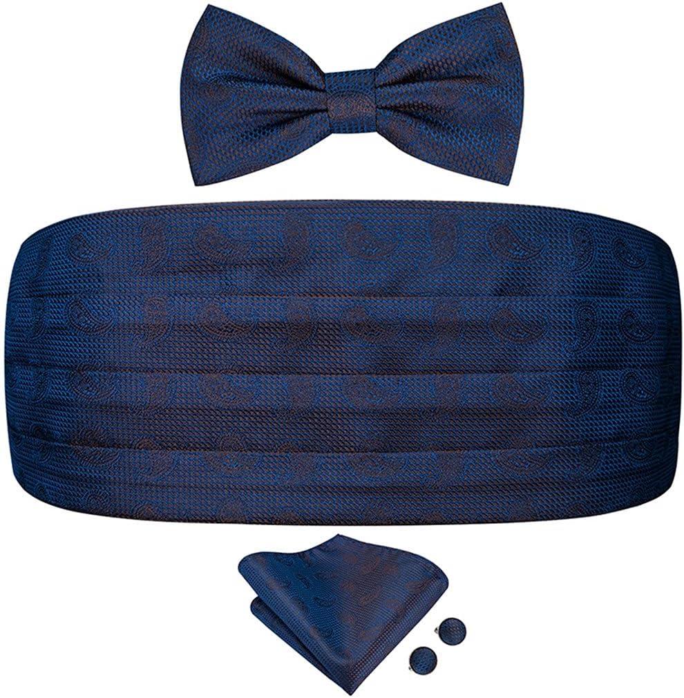 NJBYX Silk Adult Men's Grey Cummerbunds Set Men Elastic Corset Wide Belt for Wedding Tuxedo Floral Cummerbund Bow tie Set (Color : Grey, Size : One size)