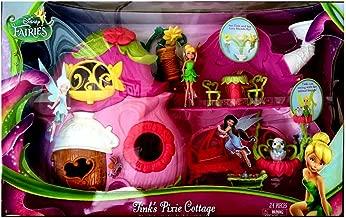 Disney New Fairies Tinkerbell Tinks Pixie Cottage Toy House Playset Plus Free Bonus Bundle!!