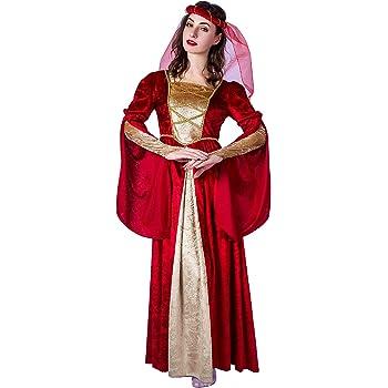 SEA HARE Disfraz de Princesa Renacentista Medieval para Mujer ...