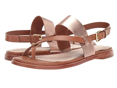 Cole Haan Anica Thong Sandal (Pecan Rose Gold Metallic) Women