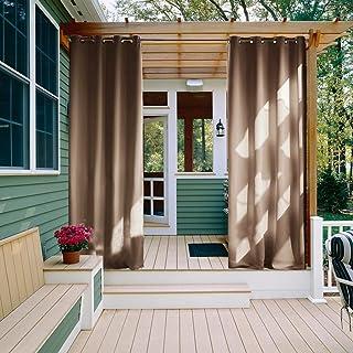 NICETOWN Outdoor Curtain for Deck Waterproof – Rust-Proof Grommet Blackout Vertical..