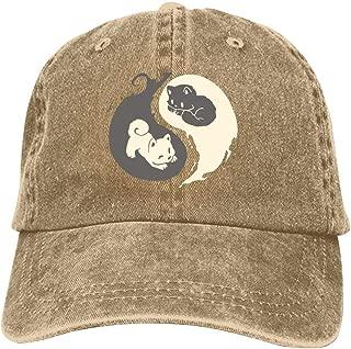 LeoCap Kit and Pup Baseball Cap Unisex Washed Cotton Denim Hat Adjustable Caps Cowboy Hats