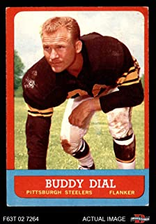1963 Topps Football 124 Buddy Dial Single Print Excellent (5 out of 10) by Mickeys Cards