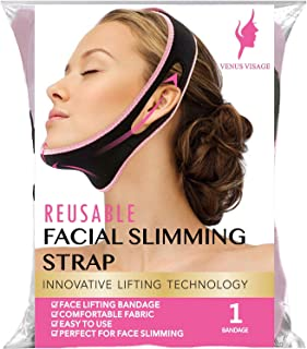 Facial Slimming Strap, Pain-Free Face Lifting Belt, Double Chin Reducer, V Line Lifting Chin Strap for Women Men Eliminate...