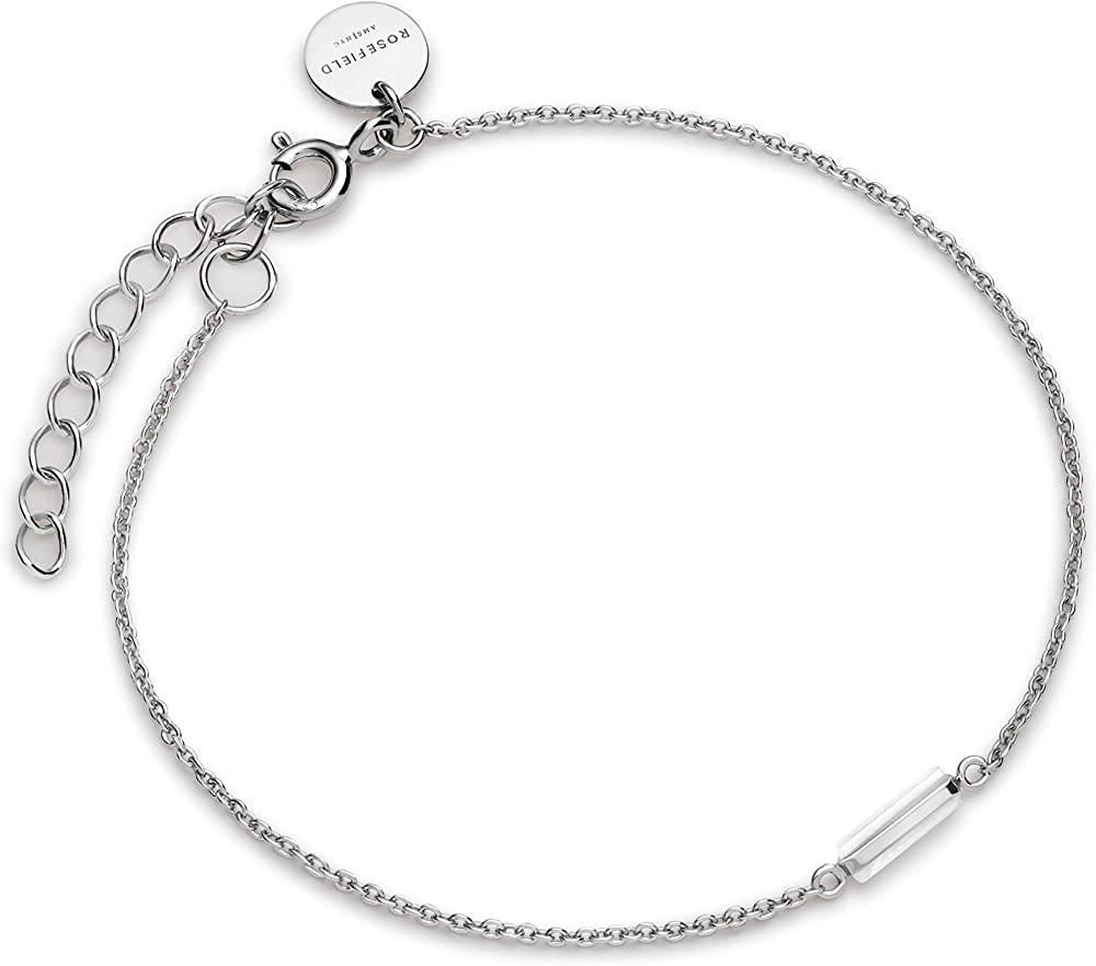 Rosefield, braccialetto a catenina per donna con ciondoli, in argento sterling 925 JMOS-J004