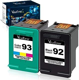 Best Valuetoner Remanufactured Ink Cartridges Replacement for HP 92 & 93 C9513FN C9362WN C9361WN for Photosmart 7850 C3150 C3180, Deskjet 5440 5420, PSC 1510 2525 Printer (1 Black, 1 Tri-Color, 2 Pack) Review