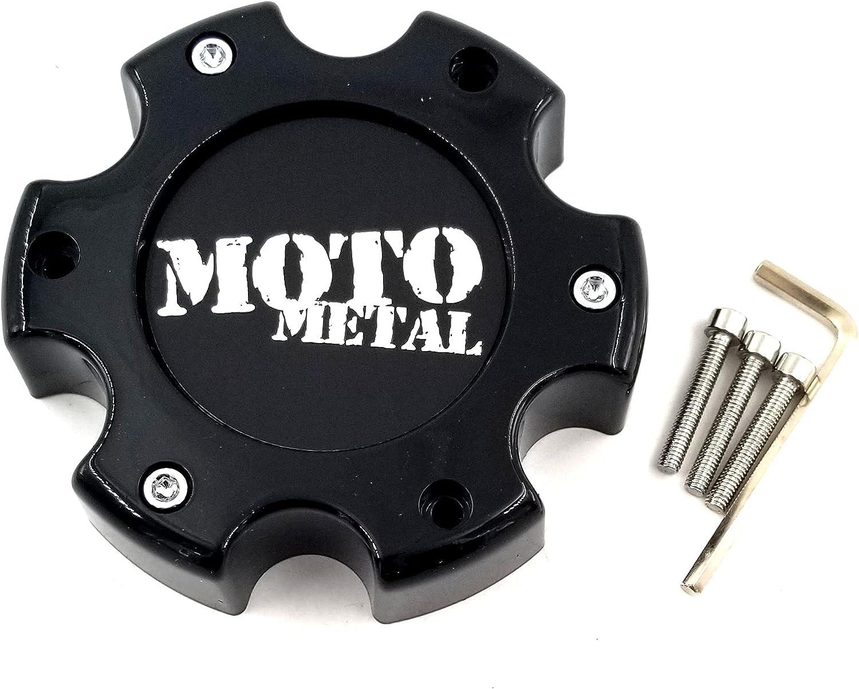 Moto Metal MO909B6139B Gloss Center Houston Mall Max 76% OFF Black 6x5.5 Cap