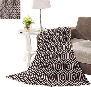 williamsdecor Ultra Plush Christmas Throw Blankets, Outline Diamond Shape Pattern Design Blanket Soft Throw Blanket Super Cozy Lightweight Blanket, 70x90 Inch
