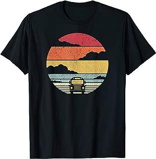 School Bus Shirt. Retro Style T-Shirt