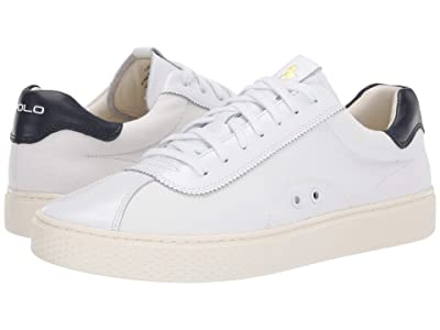 Polo Ralph Lauren Court 100 Lux (White/Newport Navy Canvas) Men