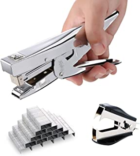 Stapler with 1000 Staples and Remover Set 20 Sheets Capacity Full Desktop Office Size WorkTimao868