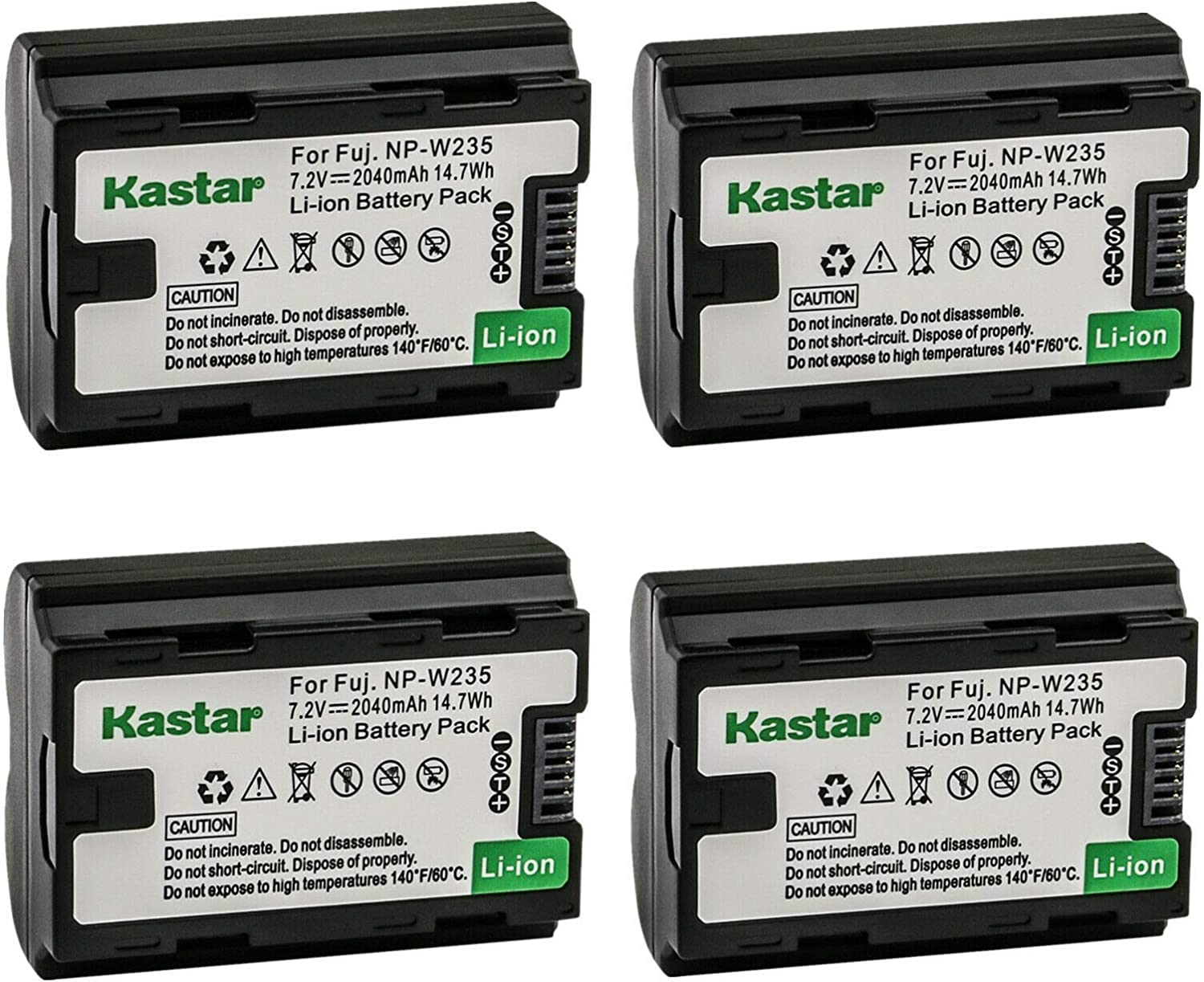 Kastar 4-Pack NP-W235 Battery New arrival N Max 69% OFF Fujifilm Replacement for