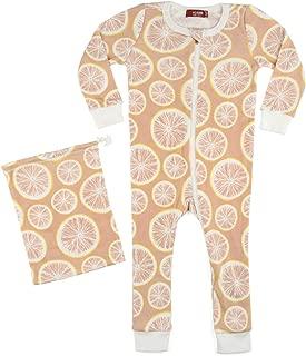 MilkBarn Organic Cotton Zipper Pajama Grapefruit