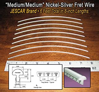 Guitar Fret Wire - Jescar Nickel-Silver Medium Gauge - Six Feet