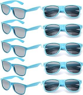 Wholesale Unisex 80'S Retro Neon Party Favor Sunglasses Bulk for Adults 10 Pack
