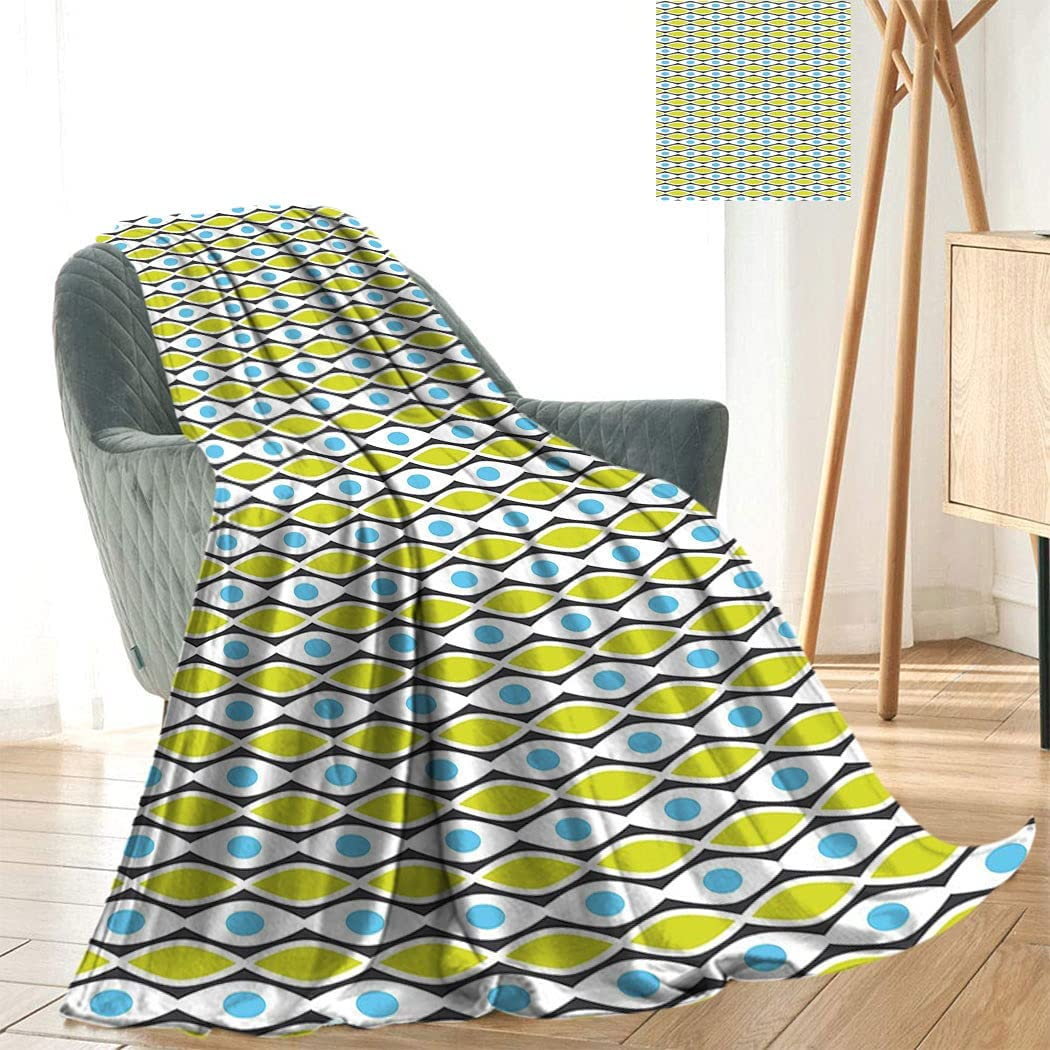 Ranking TOP14 Geometric Interesting Printed dye Max 59% OFF Abstract Blanket Modern Patter