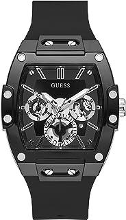 Guess Watches Phoenix Montre Homme Analogique Quartz avec Bracelet Silicone GW0203G3