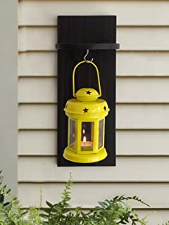 Tied Ribbons Lantern Decoration With Wooden Shelve