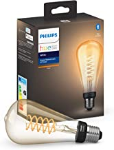 Philips 1-Pack ST72 E27 Filament Edison 1-Pack ST72 E27 Filament Edison, Smart Bulb, Transparent, Bluetooth/Zigbee, LED, E...