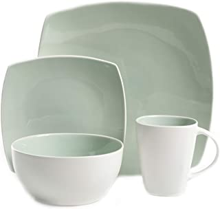 Gibson Overseas 127309.16R dinnerware set, Square, Green