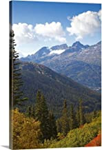 GREATBIGCANVAS Gallery-Wrapped Canvas Mountains in The Distance Rise Over The hilly forested Landscape, Skagway, Alaska by 16