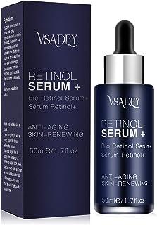 Vsadey Serum+ con Retinol Cara de 5% con ácido hialurónico vitamina E suero Antiarrugas antienvejecimiento para la piel. M...