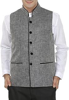 WINTAGE Men's Rayon Bandhgala Festive Nehru Jacket Waistcoat - 2 Colors