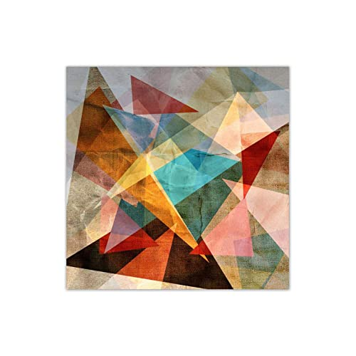 999Store Unframed Large Printed Unusual Bright Colorful Geometric Abstract Canvas Painting (120X120Cms)